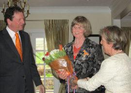 Peace Arch News: Knight in the Order of Orange-Nassau award for Edie Bijdemast