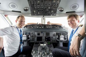 Dutch King Willem-Alexander as a KLM pilot